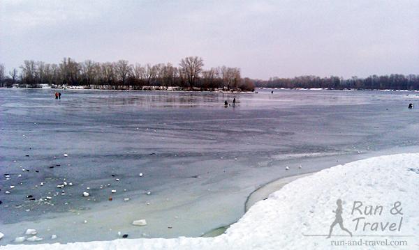 Замерзший залив