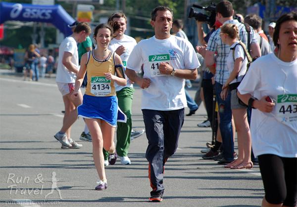 Парковый забег на Киевском марафоне