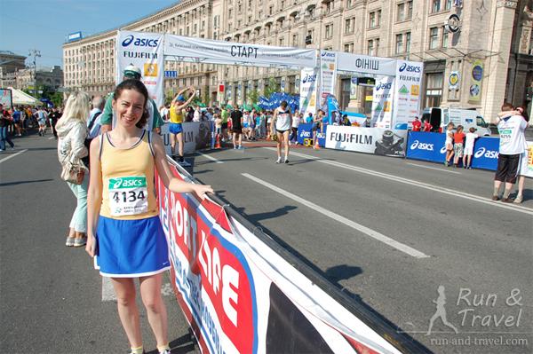 Гордый участник марафона