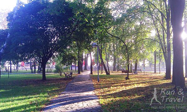Начало золотой осени в октябре