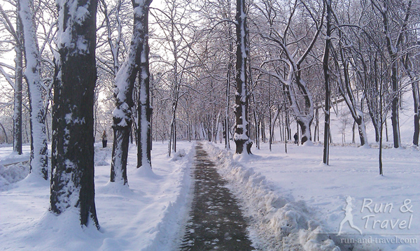 Зимние дорожки на Владимирской горке