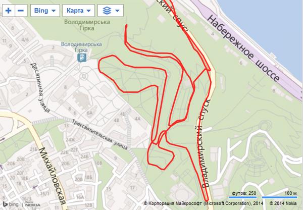 По двум террасам парка можно накрутить пару-тройку километров