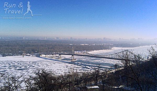 Замерзший Днепр в феврале