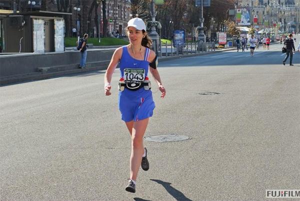Бегу по Крещатику, 18-й километр. Официальное фото
