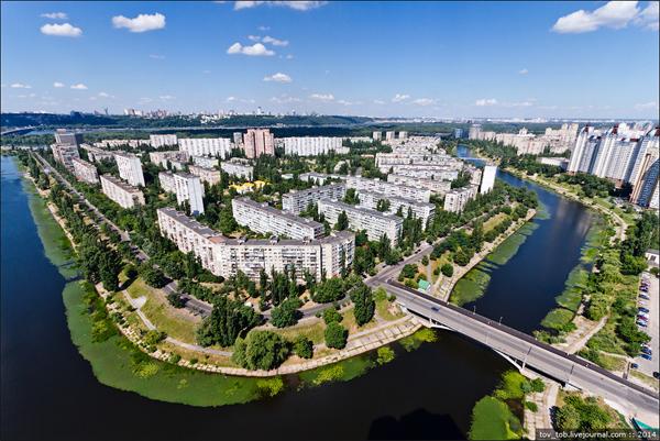 Русановка сверху. Фото: Олег Тоцкий (tov-tob.livejournal.com)