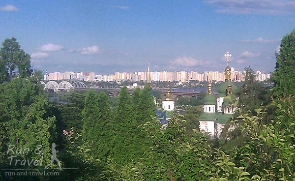 Выдубицкий монастырь, Дарницкий мост и левый берег