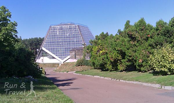 Одна из оранжерей с тропическими и субтропическими растениями