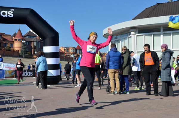 Финиш на забеге KMRC Snow Run