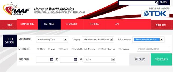 IAAF Calendar