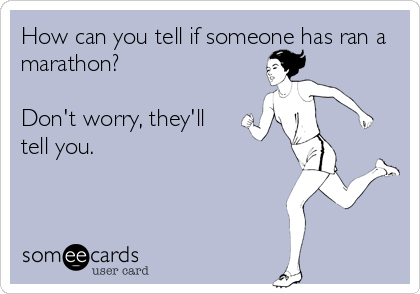 Как узнать, что человек пробежал марафон? Не переживай, он скажет тебе об этом