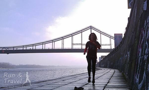 Пробежка по киевским набережным и мостам