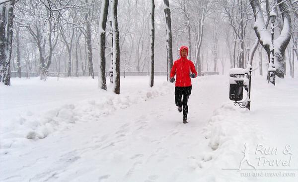 Снегопад на Владимирской горке