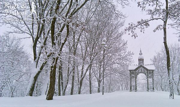Кокоревская беседка в зимнем антураже