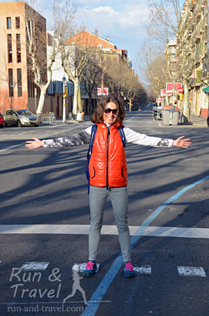 Увидела после марафона синюю линию в городе, обрадовалась
