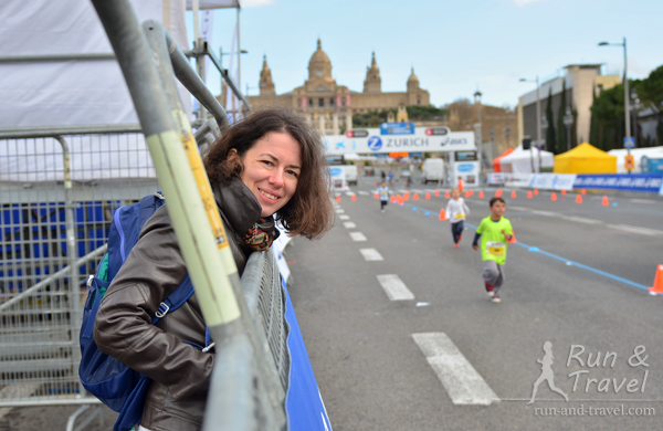 Детский забег на марафоне в Барселоне