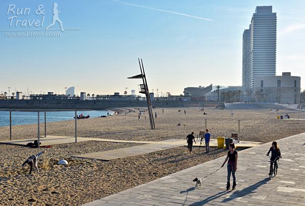 Пляжи за Олимпийским портом