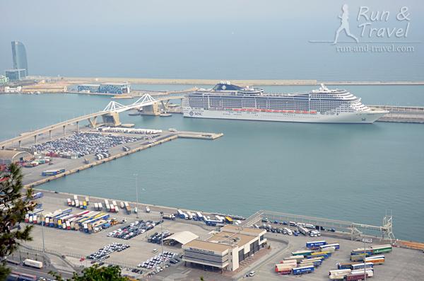 Часть современной портовой зоны