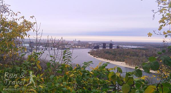 Днепр и мосты, октябрь