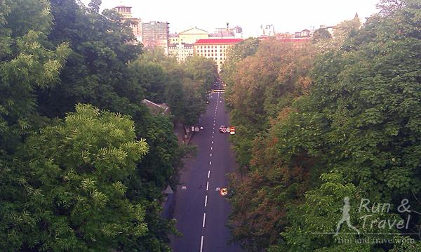 Виды  с моста на Петровскую аллею