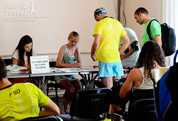 Регистрироваться можно было как заранее, через Athletic Events, так и на месте