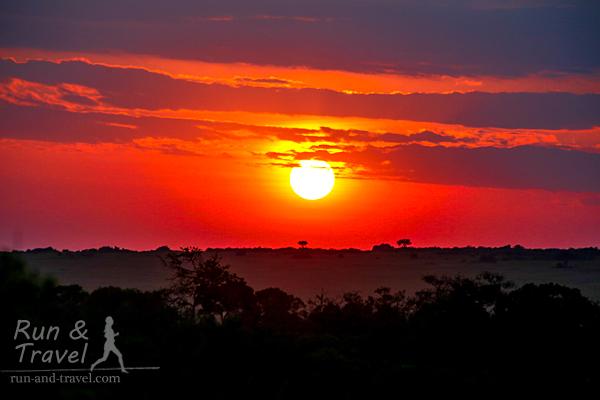Закат в Масаи Мара
