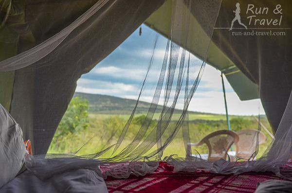 Из кровати – вид на просторы Масаи Мара