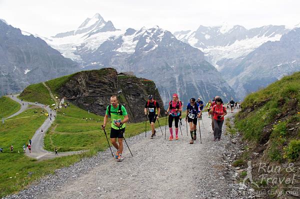 Участники забега на трейле