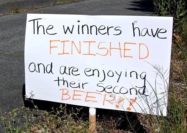Победители уже финишировали, и пьют второе пиво (пока ты тут ползешь)