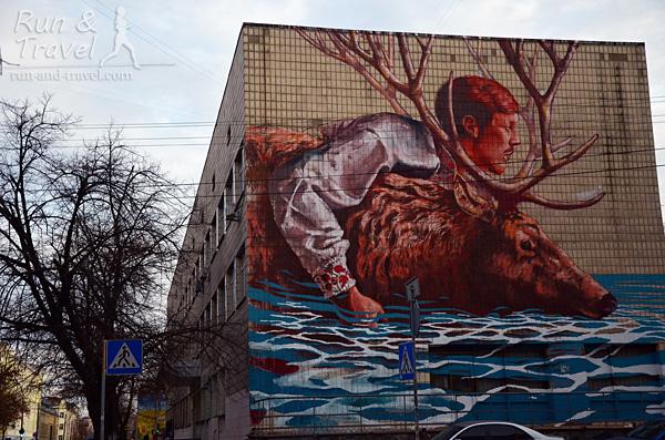 Мурал «Переправа» на Волошской