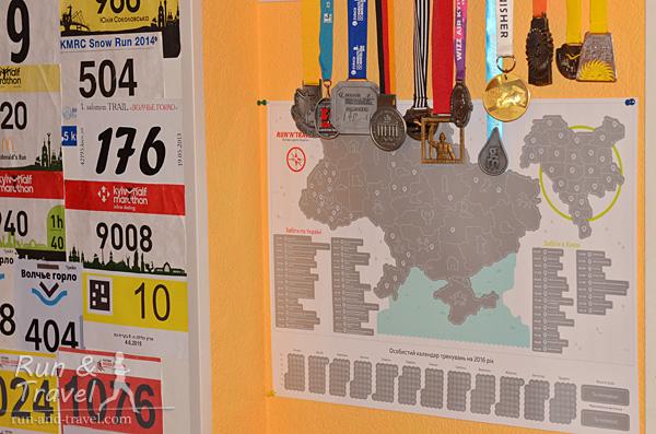 Лучшее место для карты – по соседству с другими беговыми трофеями