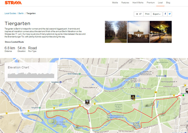 Маршруты для пробежек в Берлине на Strava Local Guides