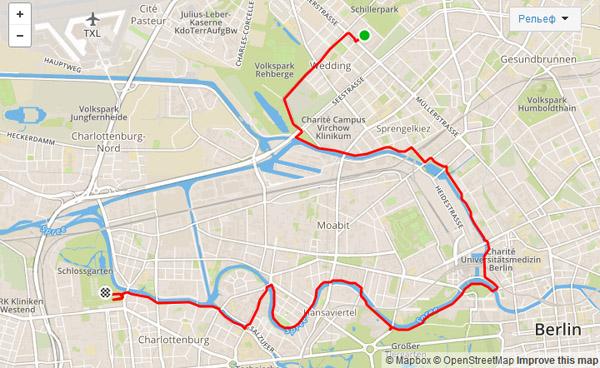 16 км вдоль каналов и Spree