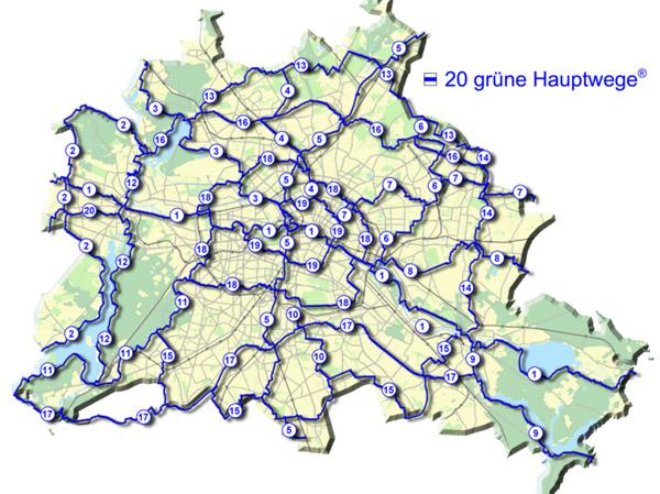 А вот так выглядят все 20 зеленых дорог Берлина на карте