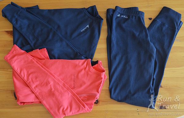 Термобелье – футболки с длинным рукавом и штаны