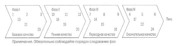 Схема для сокращения 24-недельного плана