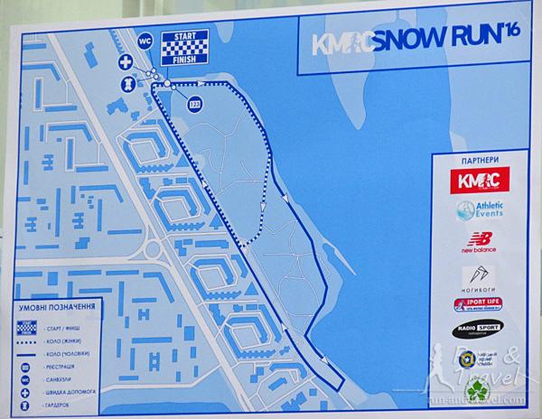 Маршруты забегов на 5 и 10 км