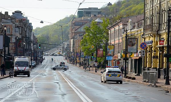 Улица Сагайдачного перед стартом