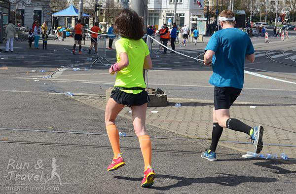 Последние километры Братиславского марафона