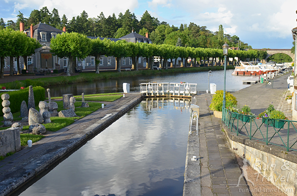 Canal Briare – шлюз недалеко от места старта