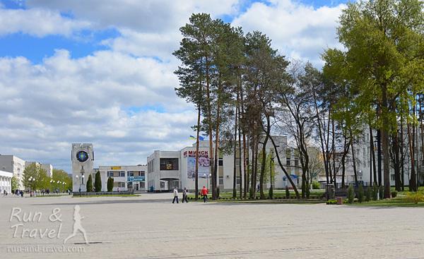 Центральная площадь в Славутиче