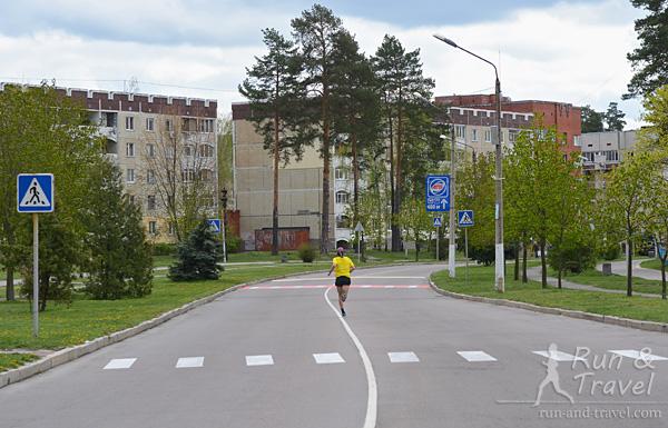 Часть маршрута по городу, асфальт везде хороший