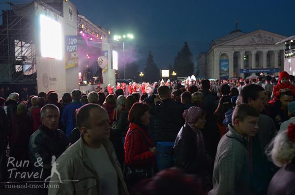 Красная площадь в субботу вечером