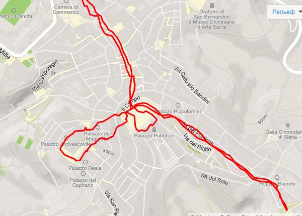 Скромный маршрут по Сиене
