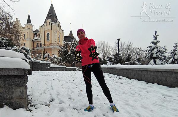 А с середины ноября в Киев пришла зима. Даже успела раз или два побегать в шипах