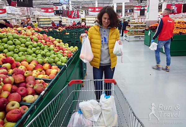 многоразовые мешочки для фруктов и овощей